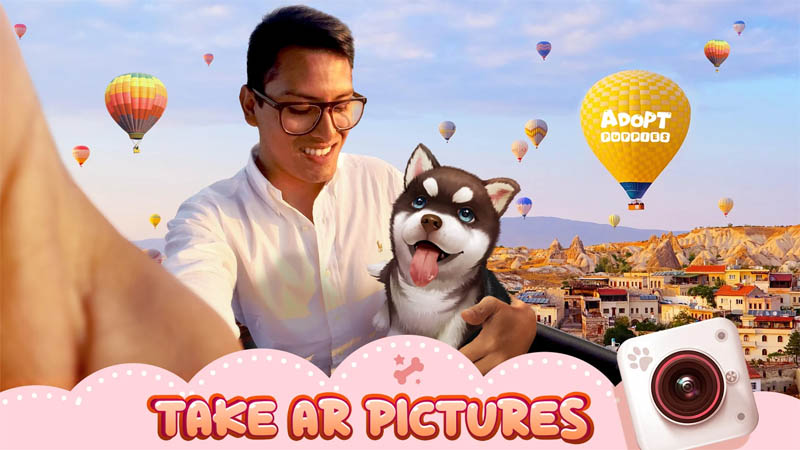 Adopt Puppies - Take AR Pictures