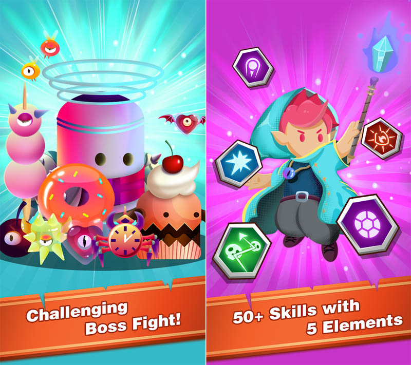 Wizard Legend Fighting Master - Challenging Boss Fight 50 Skills with 5 Elements