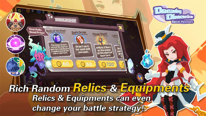 Dreaming Dimension Deck Heroes - Rich Random Relics and Equipments