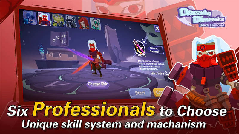 Dreaming Dimension Deck Heroes - Six Professionals to Choose