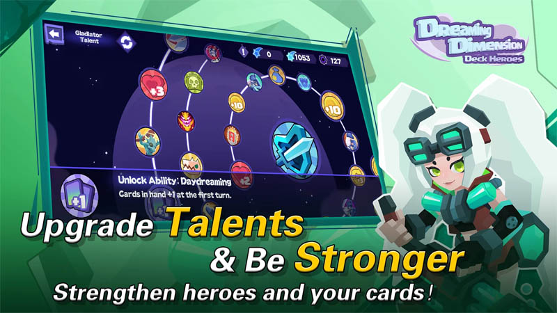 Dreaming Dimension Deck Heroes - Upgrade Talents and Be Stronger