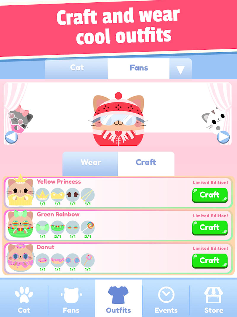 Greedy Cats - Craft and wear cool outfits
