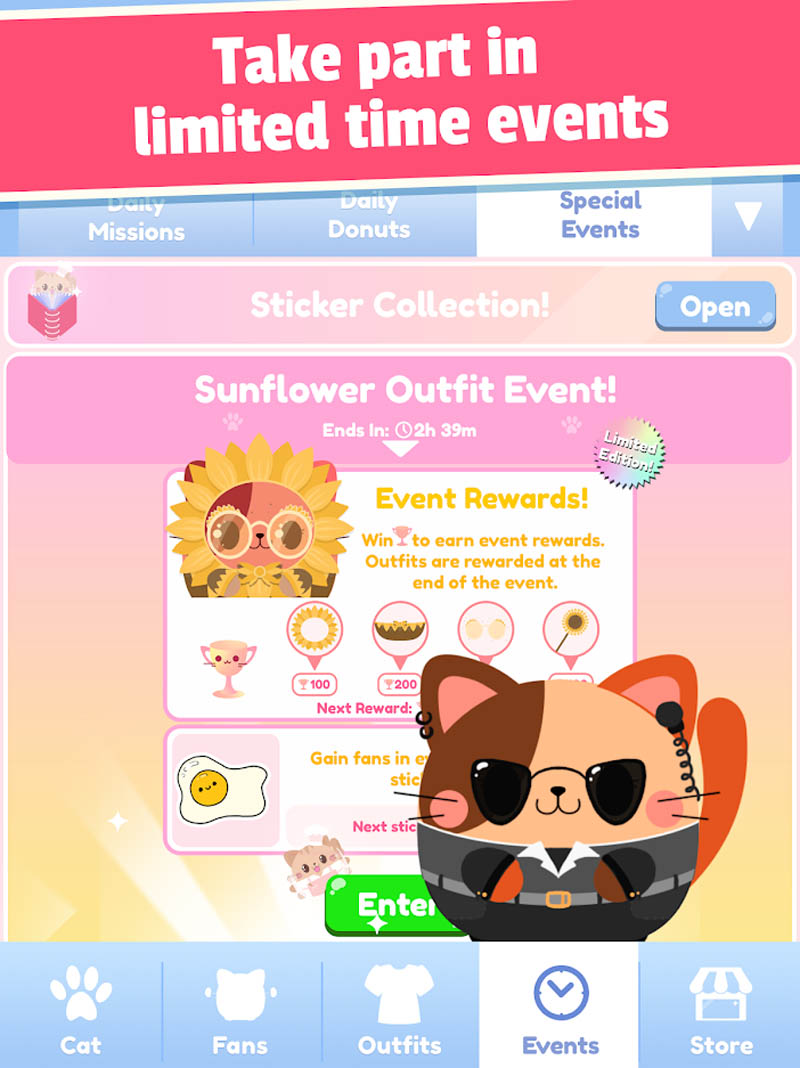 Greedy Cats - Take part in limited time events