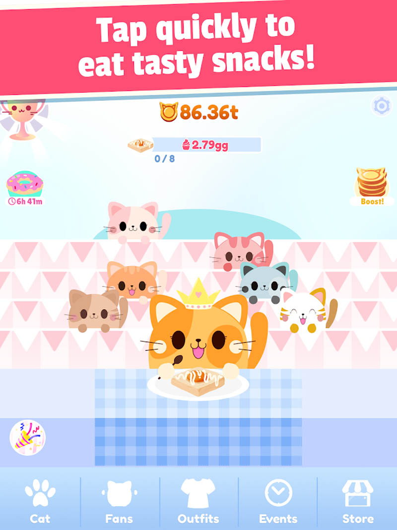 Greedy Cats - Tap quickly to eat tasty snacks