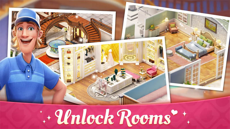 My Story Mansion Makeover - Unlock Rooms