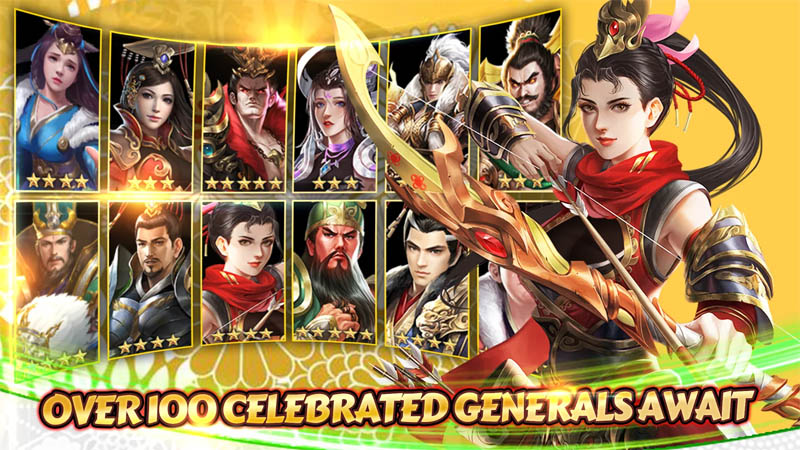 Rise of Heroes Three Kingdoms - Over 100 Celebrated Generals Await