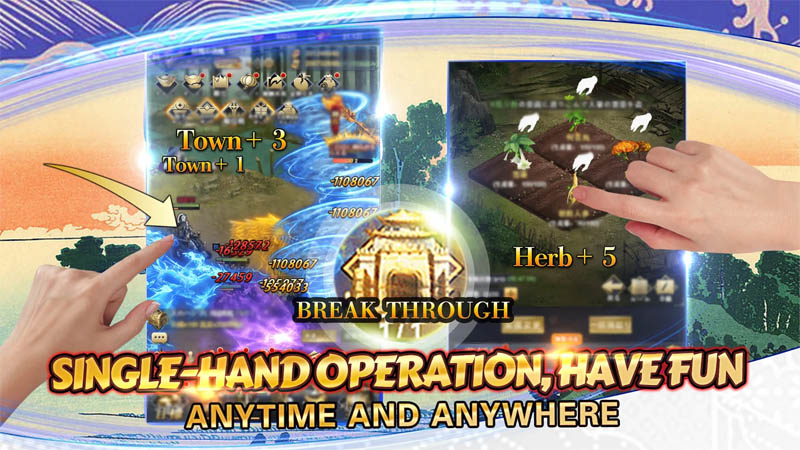 Rise of Heroes Three Kingdoms - Single Hand Operation Have Fun
