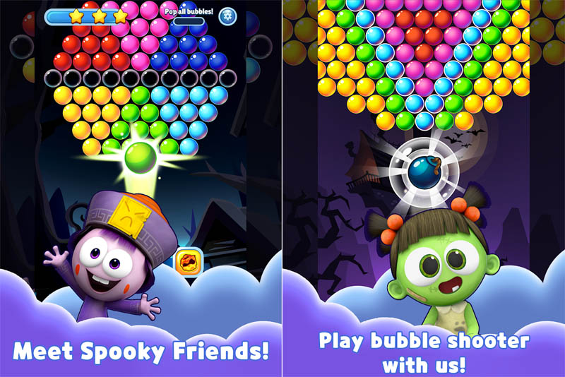 SPOOKIZ PANG - Meet Spooky Friends Play bubble shooter with us