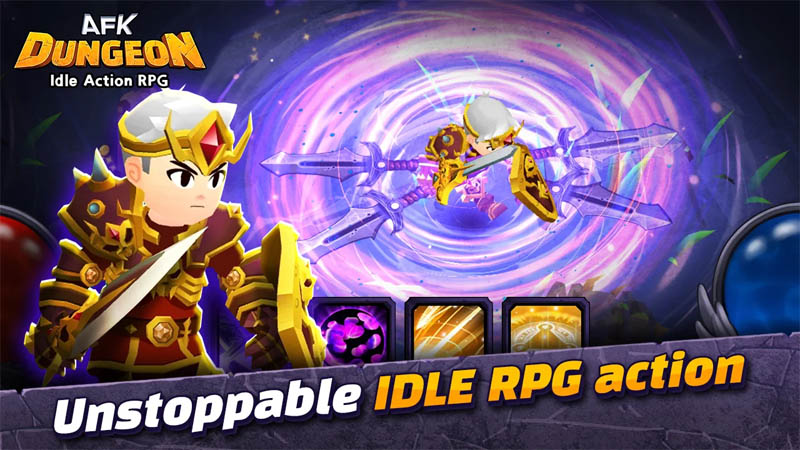 AFK Dungeon Idle Action RPG - Unstoppable Idle RPG Action