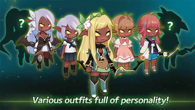 Grow Archer Chaser - Various outfits full of personality
