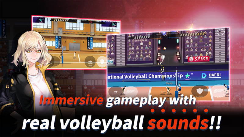 The Spike - Volleyball Story - Immersive gameplay with real volleyball sounds