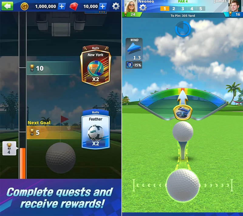 Golf Impact - Complete quests and receive rewards