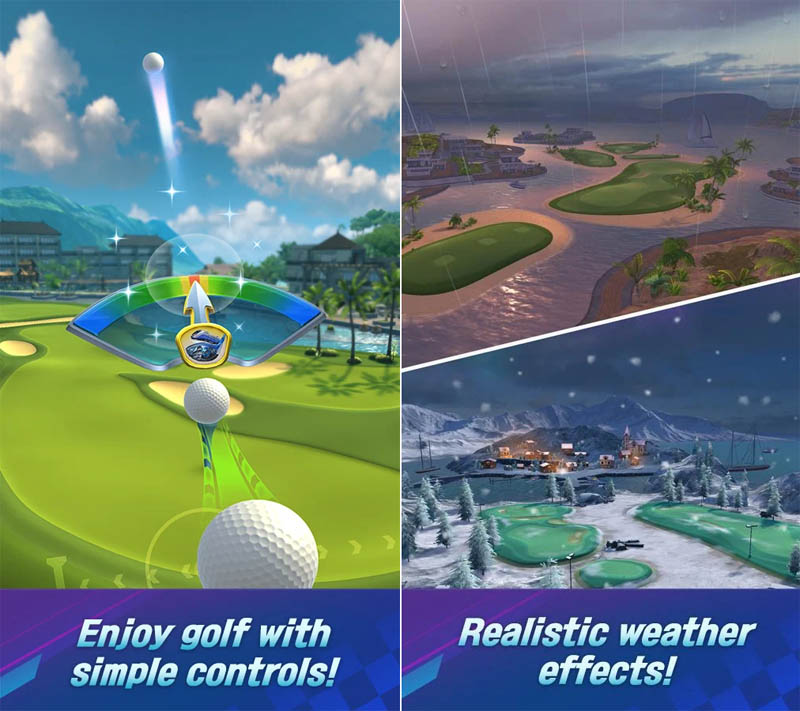 Golf Impact - Enjoy simple controls Realistic weather effects