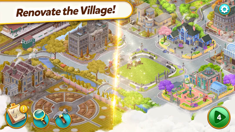 Mystery Match Village - Renovate the Village