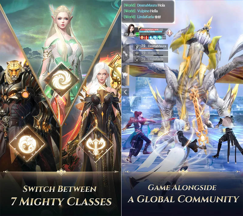 Perfect World Revolution - Switch Between 7 Mighty Classes Game Alongside Global Community