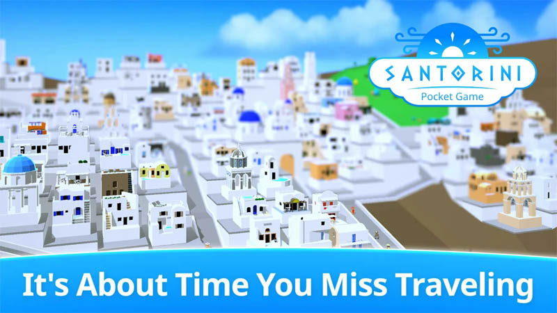 Santorini Pocket Game - About Time You Miss Traveling