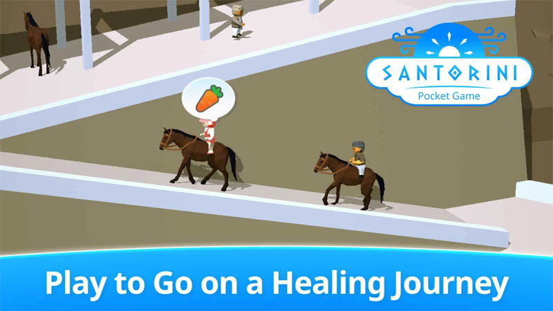 Santorini Pocket Game - Play to Go on a Healing Journey