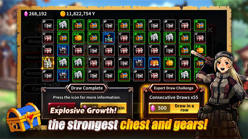 The Chest A Cursed Hero - The strongest chest and gears