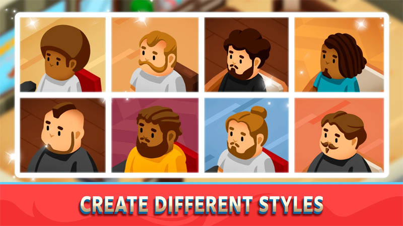 Idle Barber Shop Tycoon - Create Different Styles