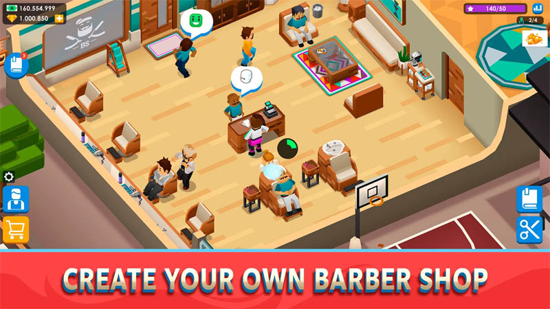 Idle Barber Shop Tycoon - Create Your Own Barber Shop