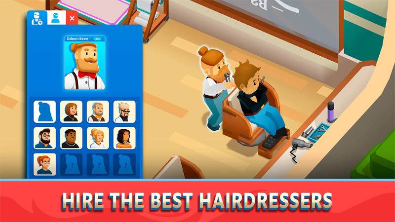 Idle Barber Shop Tycoon - Hire The Best Hairdressers