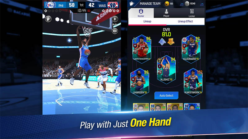 NBA NOW 21 - Play with Just One Hand