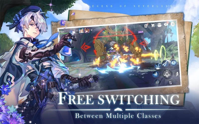 The Legend of Neverland - Free Switching Between Multiple Classes