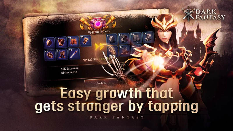 Dark Fantasy - Easy growth that gets stronger by tapping