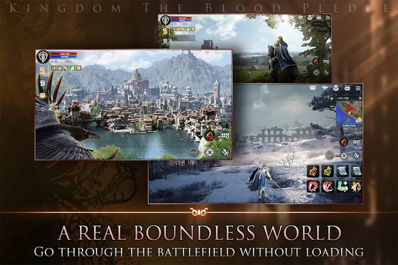 Kingdom The Blood Pledge - A Real Boundless World Go Through The Battlefield Without Loading