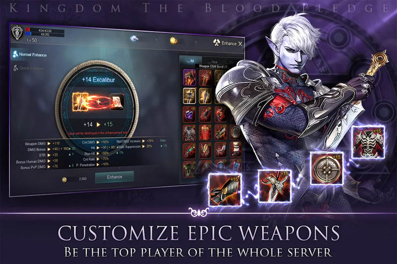 Kingdom The Blood Pledge - Customize Epic Weapons