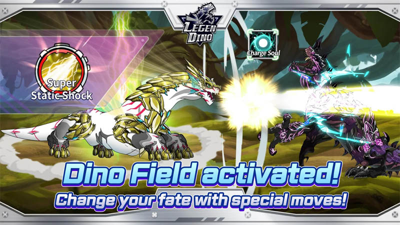 Legendino - Dino Field activated Change your fate with special moves