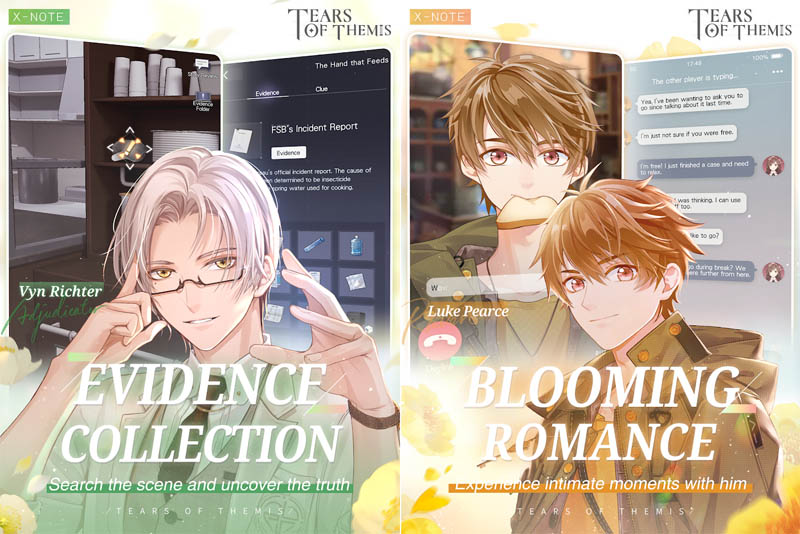 Tears of Themis - Evidence Collection Blooming Romance