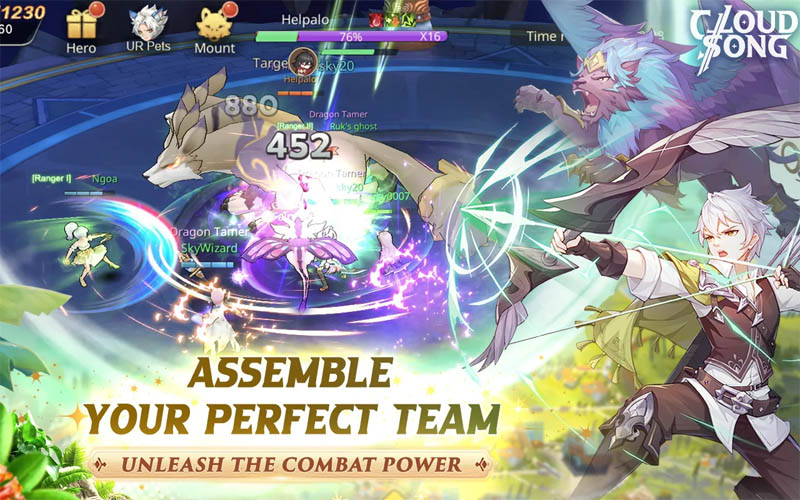 Cloud Song Saga of Skywalkers - Assemble Your Perfect Team