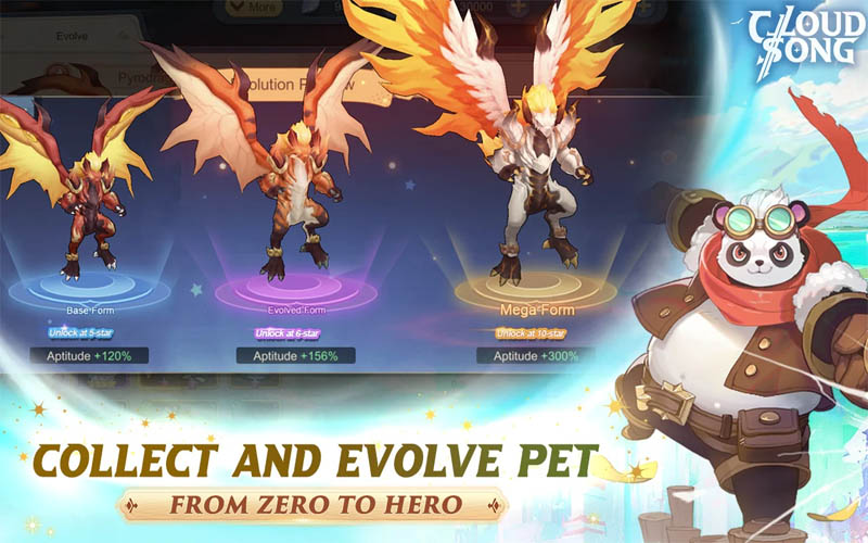 Cloud Song Saga of Skywalkers - Collect and Evolve Pet