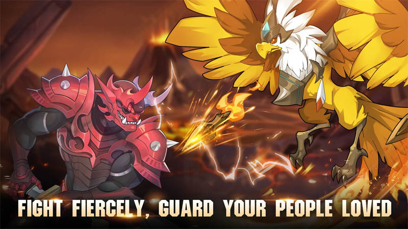 Knight s Raid Lost Skytopia - Fight Fiercely Guard Your People Loved