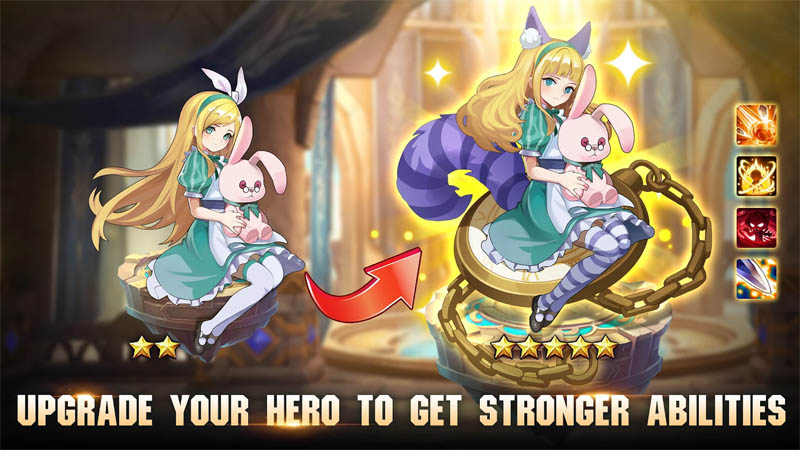 Knight s Raid Lost Skytopia - Upgrade Your Hero To Get Stronger Abilities
