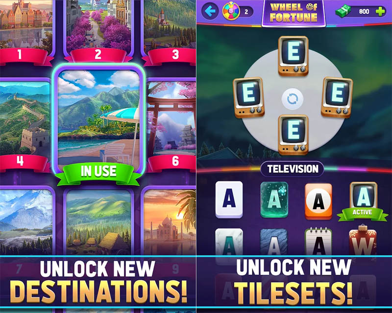 Wheel of Fortune Words of Fortune - Unlock New Destinations and Tilesets