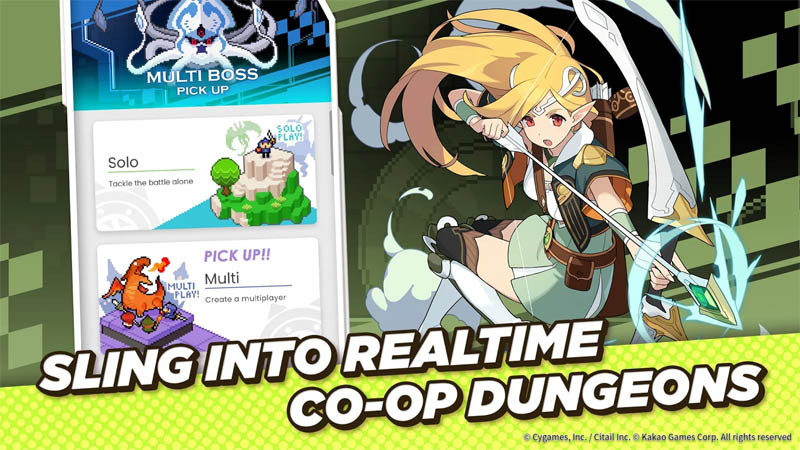 World Flipper - Sling Into Realtime Co Op Dungeons