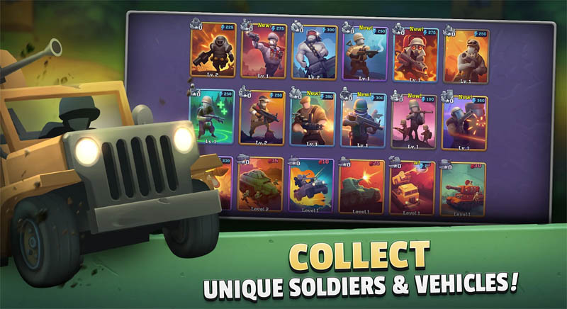 GUNS UP Mobile - Collect Unique Soldiers and Vehicles