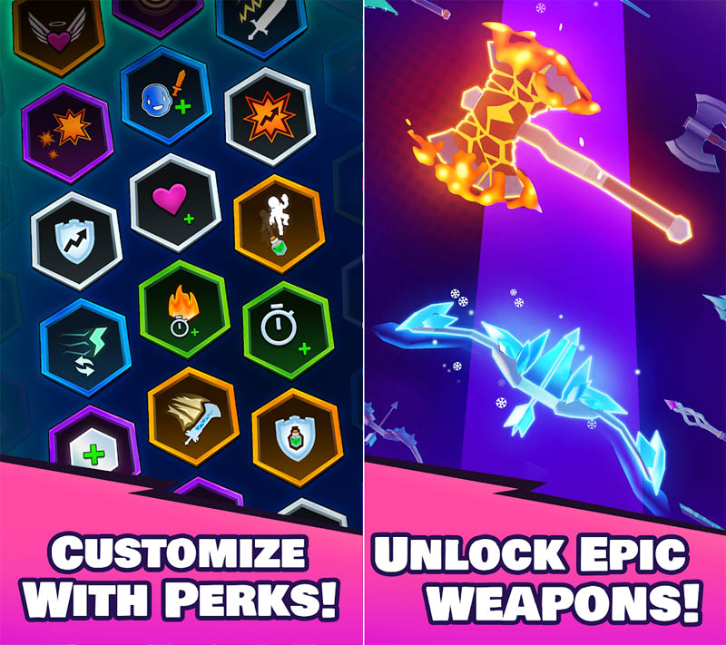 Knight s Edge - Customize With Perks Unlock Epic Weapons