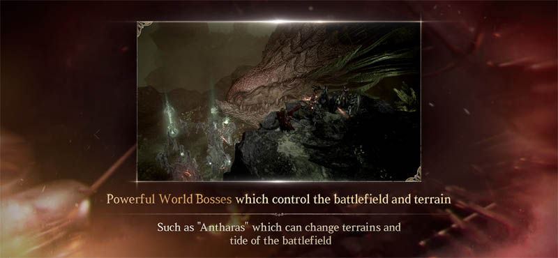 Lineage W - Powerful World Bosses which control the battlefield and terrain