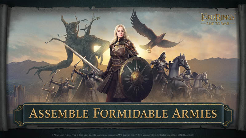 The Lord of the Rings Rise to War - Assemble Formidable Armies