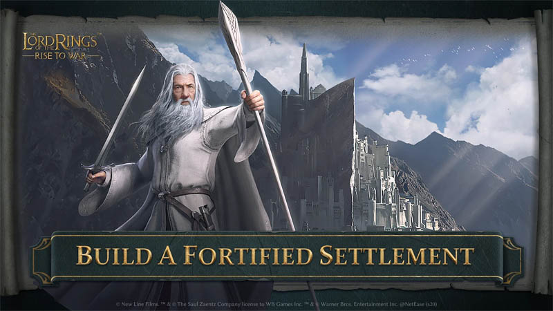 The Lord of the Rings Rise to War - Build A Fortified Settlement