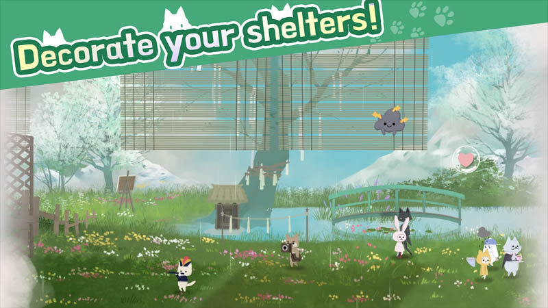Cat Shelter and Animal Friends - Decorate your shelters