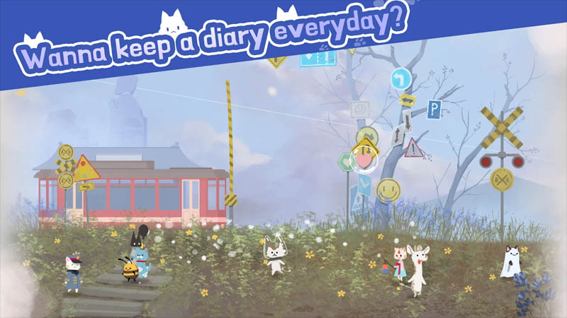 Cat Shelter and Animal Friends - Wanna keep a diary everyday