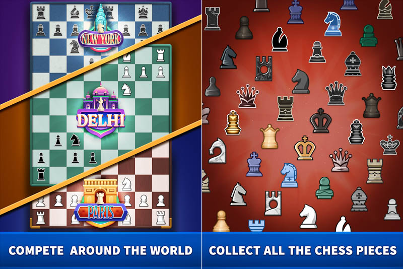 Chess Clash - Compete Around The World Collect All The Chess Pieces