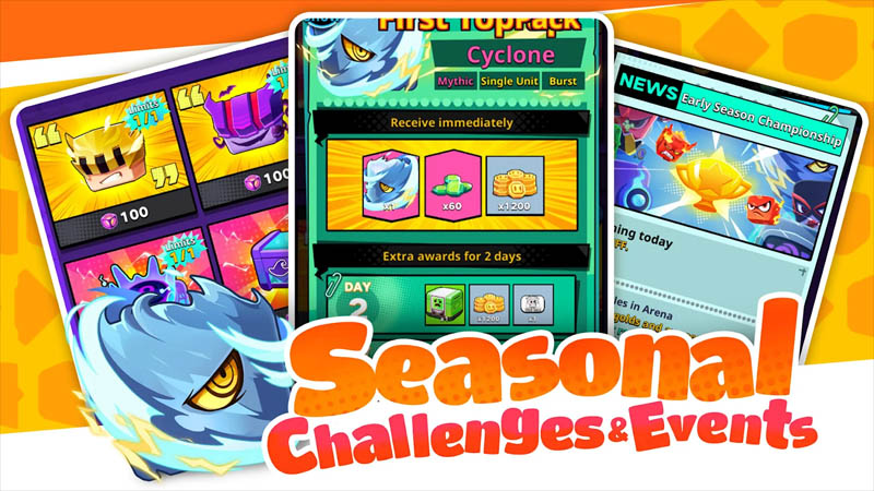 Cubic Defense 3Mins Real-Time Battle - Seasonal Challenges and Events