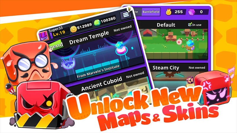 Cubic Defense 3Mins Real-Time Battle - Unlock New Maps and Skins