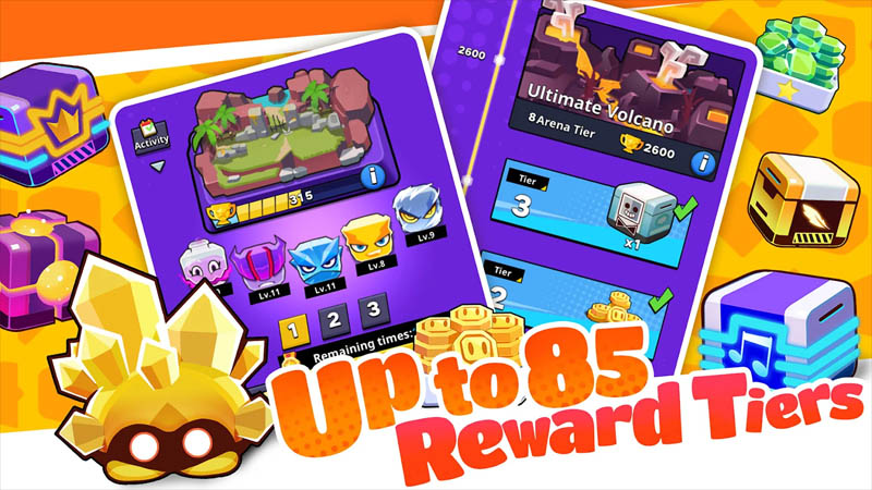 Cubic Defense 3Mins Real-Time Battle - Up to 85 Reward Tiers