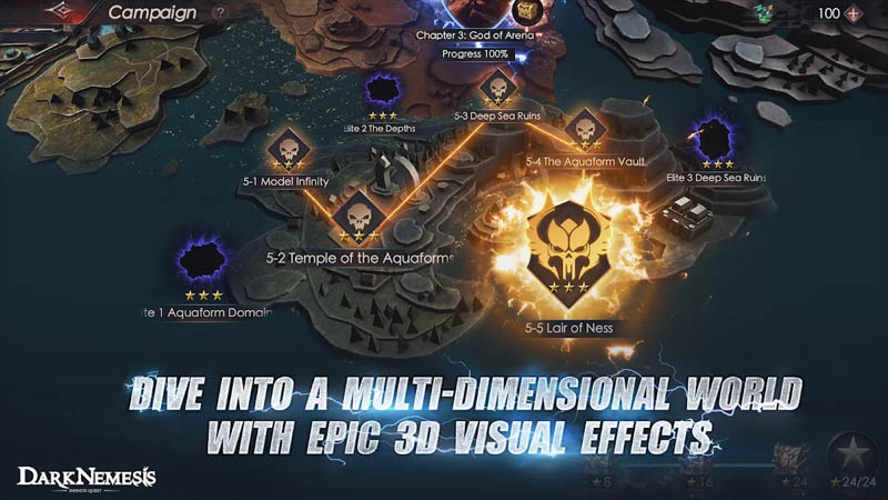 Dark Nemesis Inifinite Quest - Dive Into A Multi Dimensional World With Epic 3D Visual Effects